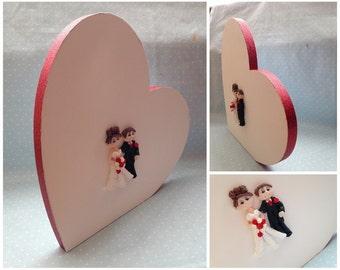 Wooden Wedding Guest Book Heart