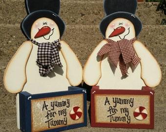 Snowman candy box