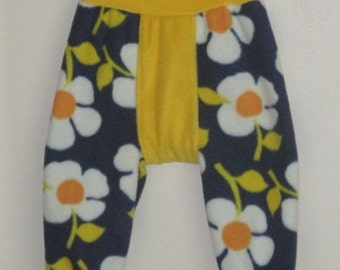 UPSY DAISIES -  Fleece Longies (Flongies), Pull-up Fleece Cover - Large - So Soft, So Cute - Australian Made