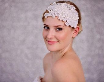 Wedding / Bridal White Lace Headband