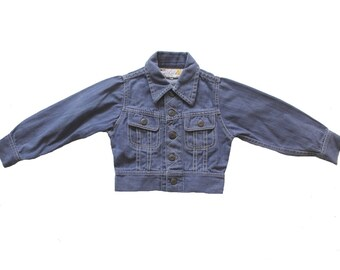VINTAGE 70's / kids / denim jacket / jean jacket / made in China  / size 3 Years