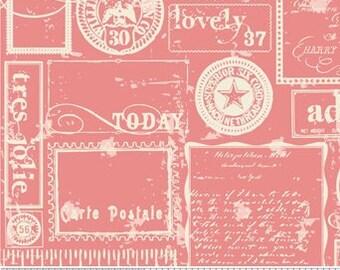 One yard Riley Blake Designs Lost & Found by Jen Allyson for My Mind's Eye Pattern -pink