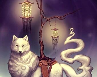 "Mystical Wolf Large Print 11"" x 17"""
