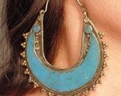 E0209 - Huge Vintage Style Kuchi Hoop Earrings - 14 Gauge