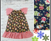 sALE Christmas Toddler Dress 18 months - Ready to ship