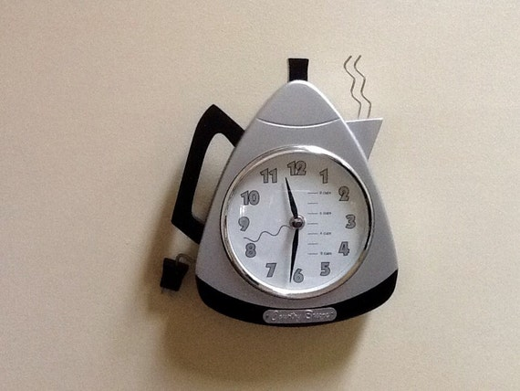 Vintage Coffee Pot Wall Clock By Country Breeze Battery