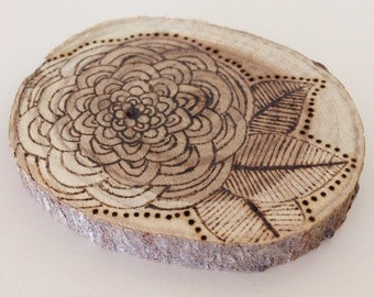 Eco Friendly wooden incense holder - handmade