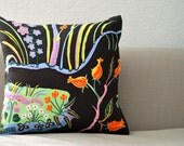 Josef Frank Designer Pillow - Hawaii in Brown linen 45cm