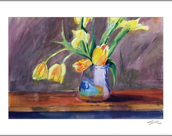 Note Cards (12) — Yellow Tulips — set of 12 blank note cards