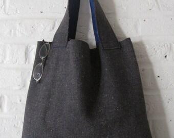 Handmade Recycled Blanket Bag