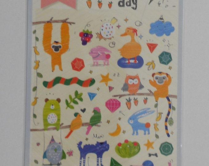 Kawaii Spring Animal Stickers