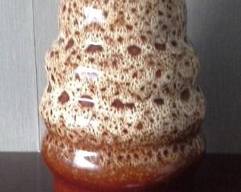 NEW DEVON ENGLAND Brown Mottled Brown Vase