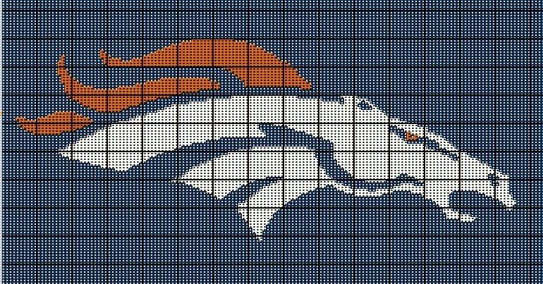 Crochet Nfl Blankets Denver Broncos Nfl Crochet