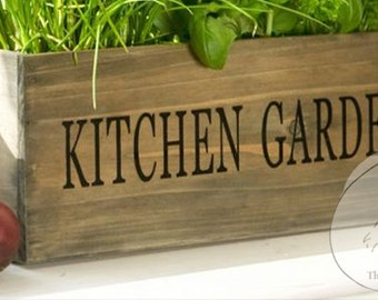 Large Reclaimed Barn Wood Style Planter Box -Kitchen Planter Box - Wooden Garden Planter vase- Wooden Herb Planter box