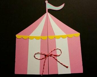 Circus Tent Invitation