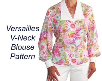 Versailles Blouse Sewing Pattern with Bishop Sleeves, BSS120