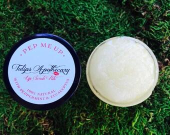 Peppermint/ Eucalyptus Lip Scrub- 2oz 100% Natural Sugar Lip Scrub- PEP ME UP