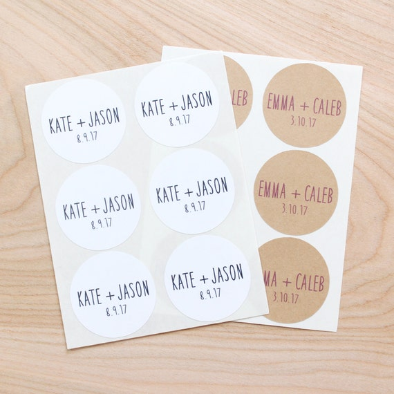 Items Similar To CUSTOM Name And Wedding Date Stickers