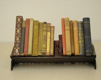 Vintage Oak Book Trough
