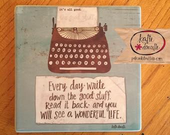 Typewriter Sandstone Coaster