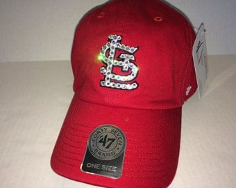 Swarovski crystal bling St. Louis Cardinals adjustable hat