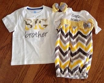 Matching sibling shirt and baby gift set!!