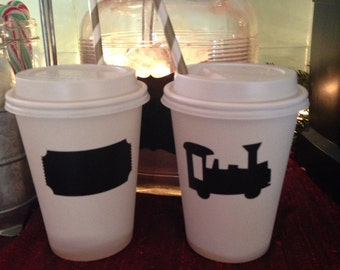 24 polar express train chalkboard labels Hot cocoa chocolate bar Christmas party idea children's kids