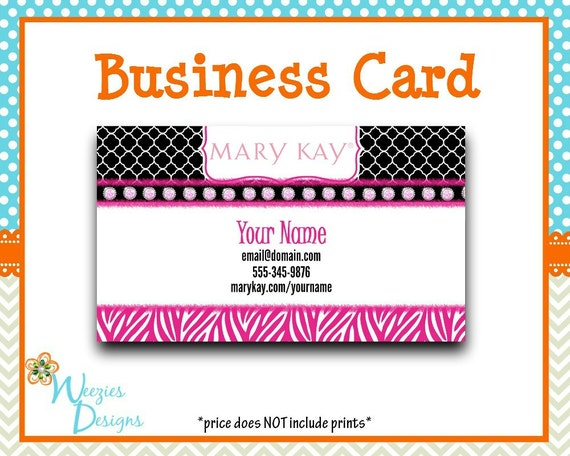 Mary Kay Business Card Direct Sales Marketing by