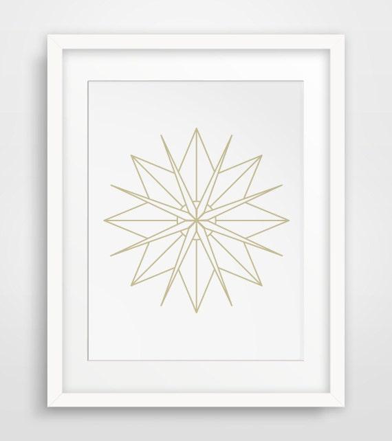 star wall art gold geometric star decor starburst wall art