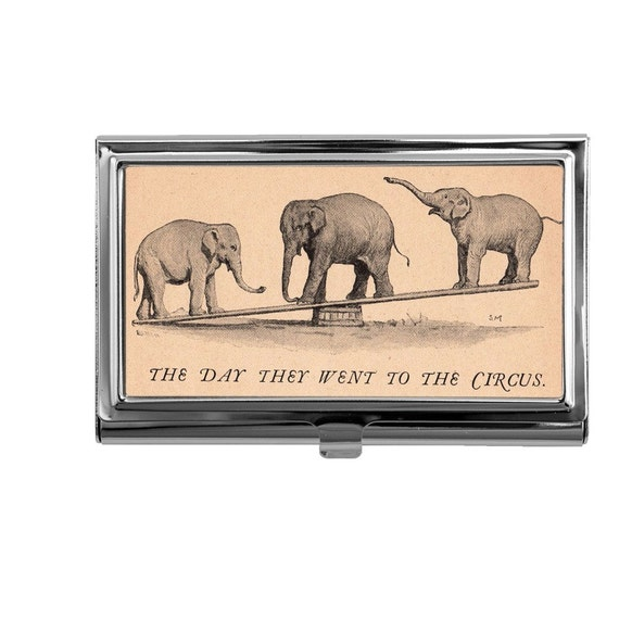 Business card holder business card case vintage circus for Vintage business card case