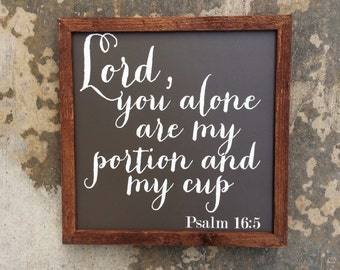 Psalm 16:5 sign