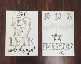 be my bridesmaid cards (silver plain)
