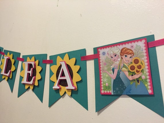 Banner Feliz Aniversario: Frozen Fever Name Banner By Fancymycupcake On Etsy