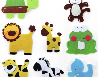 "5"" Stiffened Felt Animal Cutout Shapes (pack of 2)"