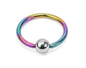 18g Titanium or Niobium Captive Bead Ring - Handmade - Price Per 1