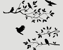 Beliebte artikel f r wand schablone baum auf etsy - Schablone wandmalerei ...