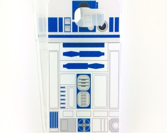 R2D2 inspired case for Samsung Galaxy  S6/S7/Edge phone - everyones favorite droid in blue
