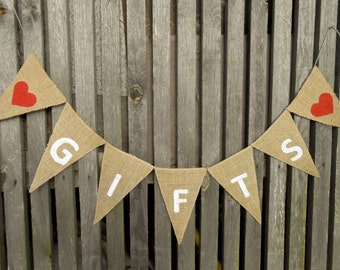 Gift Banner Party Gifts Banner Wedding Gifts Sign Party Decor Gift Sign Gifts Burlap Banner Wedding Gifts Banner Wedding Banner