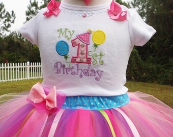 1st Birthday Outfit, Baby Girl First Birthday Outfit, First Birthday Dress, One Year Old Girl