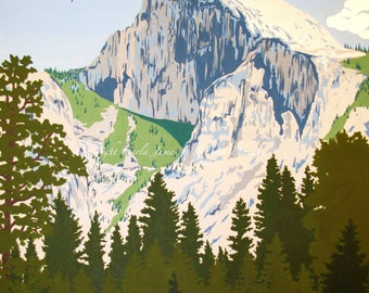 Painting of Half Dome In Yosemite