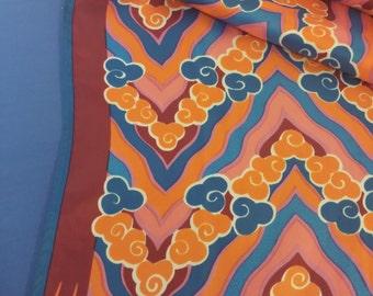 Vintage Vera Scarf / Hair Scarf/ Long Scarf/ Vera Ladybug Scarf in pink, orange, blue, red