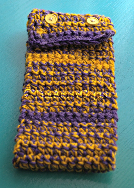LSU Purple and Gold Ear Warmer, Ready to Ship!
