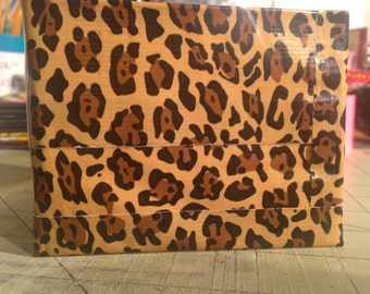 Animal Print Duct Tape Wallet