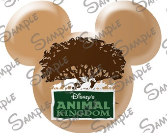 DIGITAL printable Do-It-Yourself Animal Kingdom Character inspired  Mickey head file can be personalized for you!