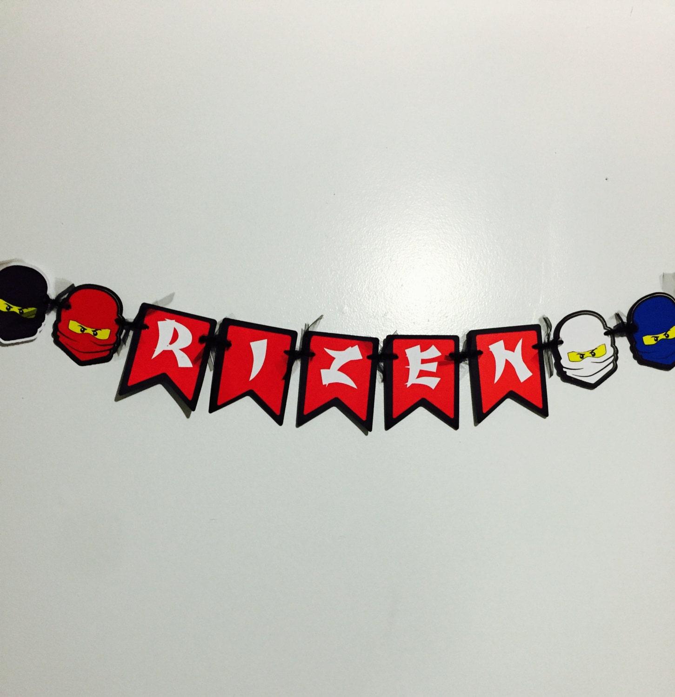ninjago inspired name banner party decorations birthday