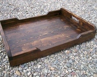 Large Rustic Serving Tray, Ottoman Tray