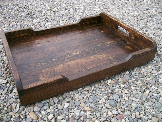 Large Rustic Serving Tray Ottoman Tray