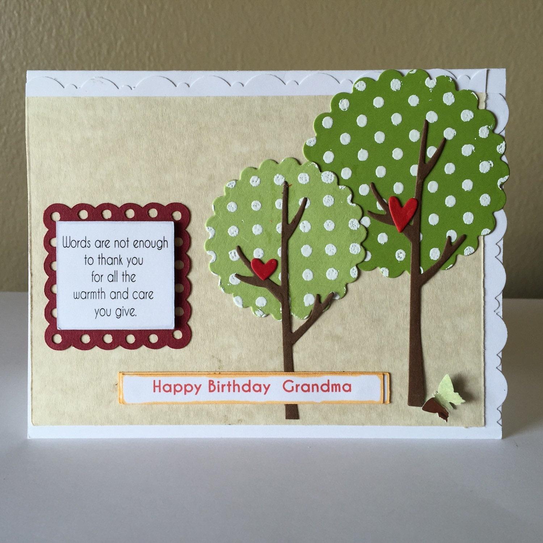 Homemade Birthday Cards For Grandma ~ Happy birthday grandma handmade card whimsical