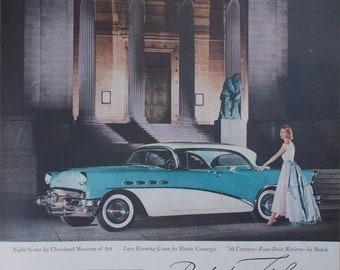 Vintage print ad from 1956 for Buick Century