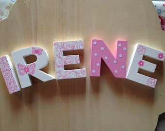 Wooden letters hand painted